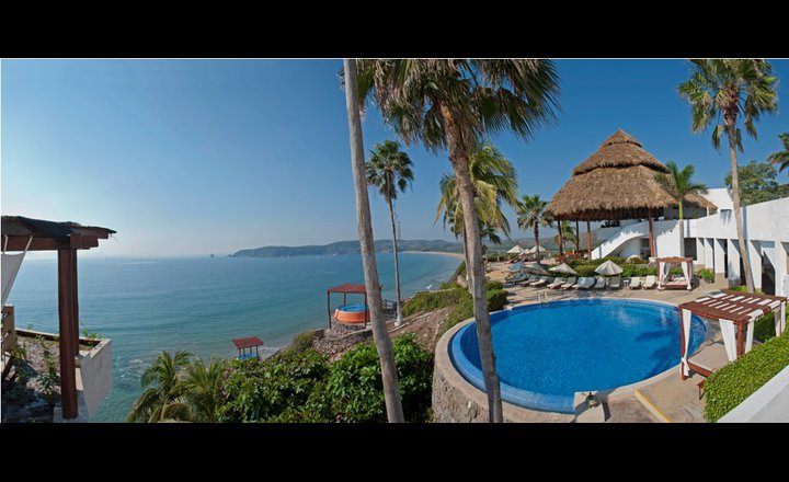 Panoramic View Of The Tenacatita Bay In Punta Serena Villas Spa